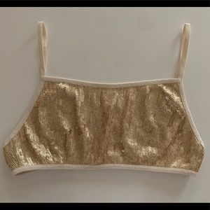 NWT Chan Luu Sequin Bra / Birch-Light Gold